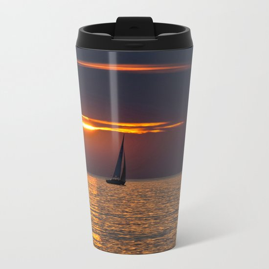 Summer sunset on the Baltic Sea Metal Travel Mug