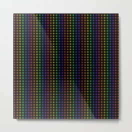 Rows of Rainbow Flowers Metal Print
