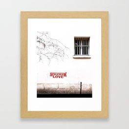 Stranger Thing s (LOVE) Framed Art Print