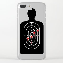 Human Shape Target With Bullet Holes Clear iPhone Case