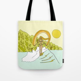 its a feeling // pointbreak in paradise // retro surf art by surfy birdy Tote Bag
