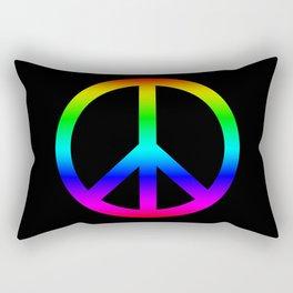 Rainbow Peace Sign Rectangular Pillow