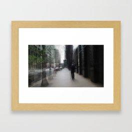 Old Man - Motion Framed Art Print