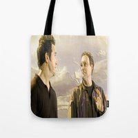 stargate Tote Bags featuring Goodbye Carson by Samy