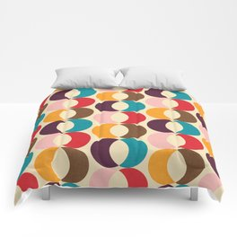 Mid Century Modern Circles Comforters