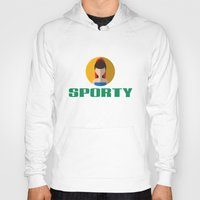 spice girls Hoodies featuring SPORTY SPICE by Chilli Cactus