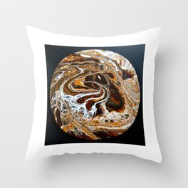 Brown tornado Throw Pillow