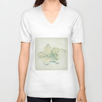 couple V-neck T-shirts featuring couple by Bonnie Jakobsen-Martin
