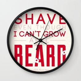 Beard Wall Clock