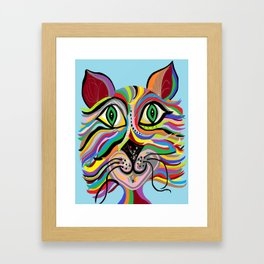 Grinning Cat Framed Art Print