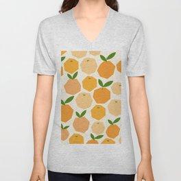 Orange Unisex V-Neck