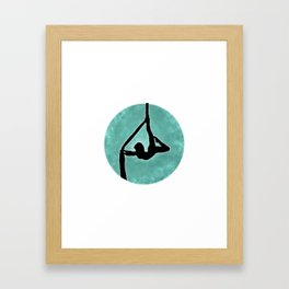 Aerial Silhouette on Paint Framed Art Print