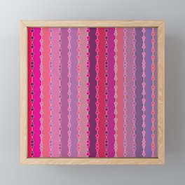 Multi-faceted decorative lines 2 Framed Mini Art Print