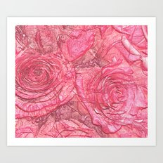 Rose Impression Art Print