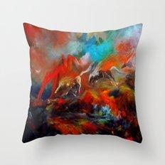 Kızıl Atlar Throw Pillow