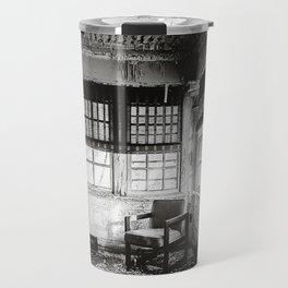 Abandoned School Lounge - Black & White Travel Mug