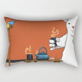 Tea for Three Rectangular Pillow