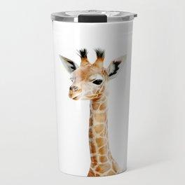 Baby Giraffe Portrait Travel Mug