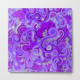 Lavender Swirls Abstract Metal Print