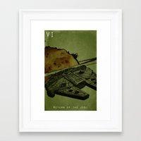 return Framed Art Prints featuring Return by Stuckey