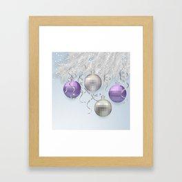 Christmas background Framed Art Print