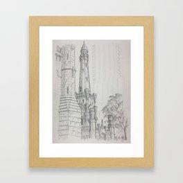 Chicago - Water Tower Framed Art Print