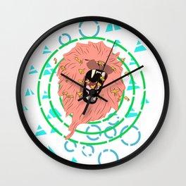 Lion bees Wall Clock