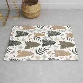 Winter in the Woods  Rug