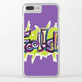 FN Foolish Graffiti Art purple Clear iPhone Case