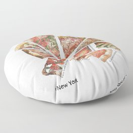 Slices of New York Floor Pillow