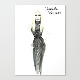 Donatella portrait Canvas Print