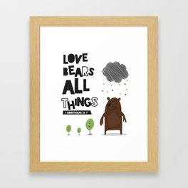 Love  Bears all things Nursery Art Print Framed Art Print