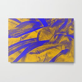 Relax Abstract plant print  Metal Print