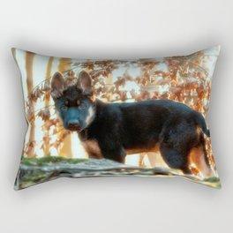 12 weeks old Shepherd puppy Rectangular Pillow
