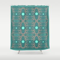 lobster Shower Curtains featuring lobster power by AmDuf