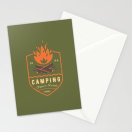 Fire - Camping Stationery Cards