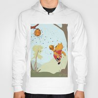 pooh Hoodies featuring Pooh Rose by Jen Hynds