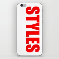 harry styles iPhone & iPod Skins featuring Harry Styles by acid&pizza