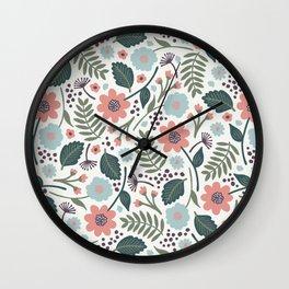 Blush Blooms Wall Clock