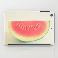 watermelon iPad Cases featuring Watermelon by Cassia Beck