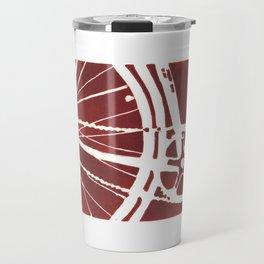 Dark Red Bike Travel Mug