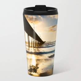 Ocean Beach Pier Silhouette Travel Mug
