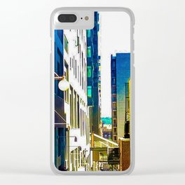 Pike Place (Color) Clear iPhone Case