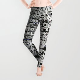 Confused Images Behind the Interface (P/D3 Glitch Collage Studies) Leggings
