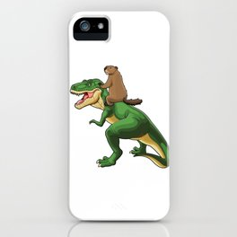 Trex Groundhog iPhone Case
