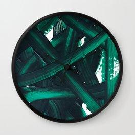 Chaotic green Wall Clock