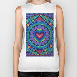True Love Mandala Biker Tank