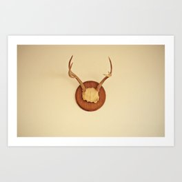 Warm Antler Art Print