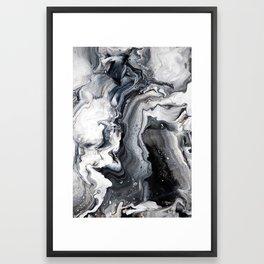 Marble B/W/G Framed Art Print