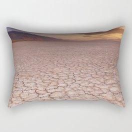 I - Cracked earth in remote Alvord Desert, Oregon, USA at sunrise Rectangular Pillow
